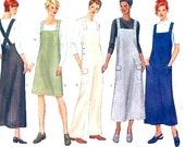 Casual overalls dress jumper summer style Gardening Gardeners outdoor lovers sewing pattern Butterick 6260 UNCUT Uncut