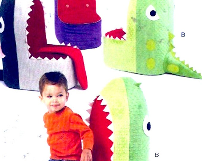 Kids play chairs plush childrens fish whale shark regal home decor sewing pattern McCalls 6856 One size UNCUT