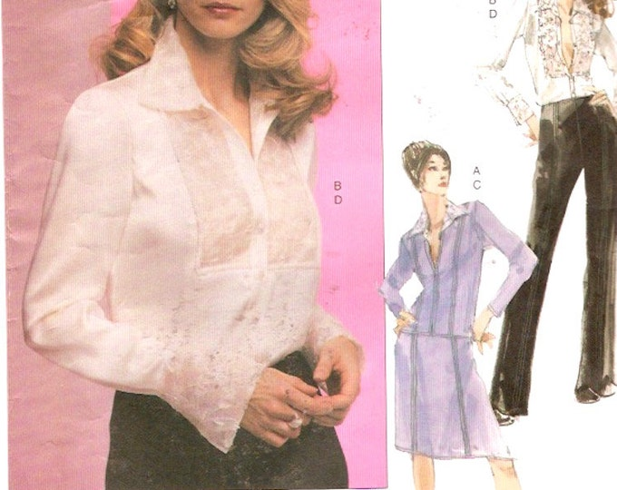 Couture jacket blouse skirt pants sewing pattern Vogue 2691 Uncut Sz 6 to 10 UNCUT