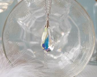 SMITTEN Vintage Inspired Swarovski Crystal Teardrop Necklace