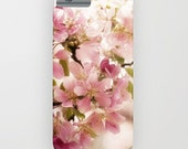 Pink Delight iphone case- pink floral photo- flowers-pretty phone cover- feminine samsung phone case