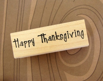 RUBBER STAMP - Happy Thanksgiving