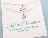 Mother Daughter Jewelry | Mother Daughter Necklace Set | Infinity Heart Necklace | Necklace Set | Gift for Mom | Sterling Silver | MD01