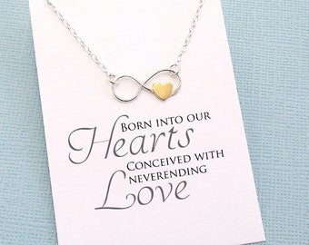 Adoption Gift | Infinity Heart Necklace | Family Necklace | Gift for Mom or Sister | Infinity Heart Charm | Sterling Silver | A05