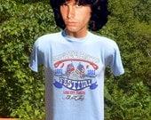 80s vintage t-shirt OLUSTEE battle FESTIVAL civil war florida tee shirt Medium Small soft thin