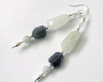 Aquamarine Earrings Iolite Sterling Silver March Birthstone Metaphysical Healing Stones