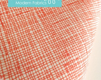 Architextures Crosshatch by Robert Kaufman and Fabric Shoppe- Best Seller- Crosshatch in Tangerine, Fat Quarter, Half Yard, or Yardage