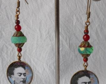 Cornflower Frida earrings
