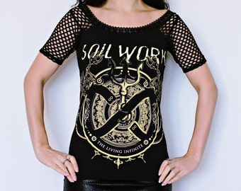 Soilwork shirt dress metal alternative clothing apparel top altered diy reconstructed
