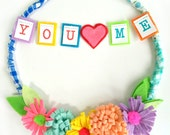 You + Me  -- Large Fanciful and Fun Valentine Hoop