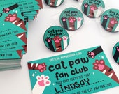 Cat Paw Fan Club Enamel Pin and Membership Card