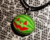 Gravity Falls - Summerween Jack-o-Melon Charm Necklace