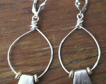 Satin Sterling Beaded Earrings