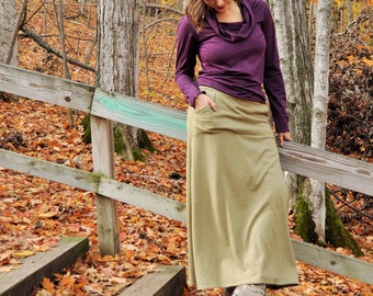 Organic Hemp Jersey Pocket Skirt