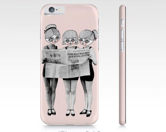 Three lovely girls - Phone Case - iphone - samsung - vintage photography - collage