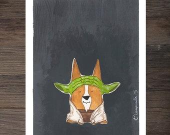 Corgi Yoda Art Print