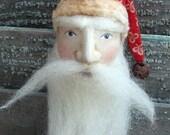 Primitive Belsnickle Santa Ornament Handmade