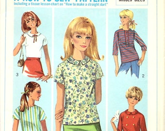 Basic Blouse Pattern How to Sew Bust 34 Simplicity 7179