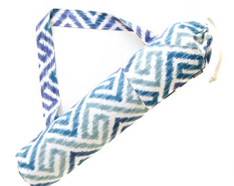 Yoga Mat Bag. Yoga Gifts. Ikat Maze Yoga Bag. Yoga Mat Tote Bag. Yoga Mat Carrier. Yogini Gift Idea for Her. Yoga Gear. Yoga Accessories