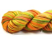 Tutti Frutti--hand dyed sock yarn, BFL and nylon, (464yds/100gm)