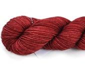 Cherry Baby--hand dyed worsted weight, merino superwash (218yds/100gm)