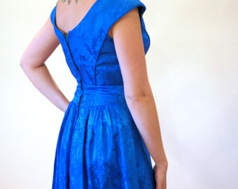 Emma domb blue dress