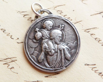St Christopher Medal - Patron of Travelers, Lifeguards and Against Storms