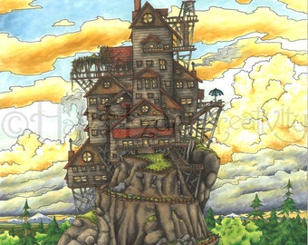 House on the Hill 8x10 art print