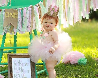Baby's First Birthday Tutu, Custom SEWN Tutu, Baby Toddler Tutu, Baby Gift, Cake Smash Tutu, Princess Photo Prop, Baby Shower Gift, Newborn