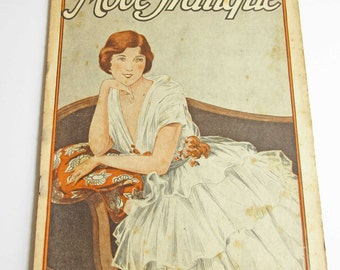 Vintage French Magazine Mode Pratique June 1919 1910's Fashion Sewing and Knitting Antique