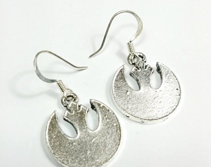 Rebel Alliance Star Wars Silver Dangle Earrings