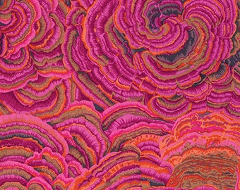 Kaffe Fassett Tree Fungi Pink Phillip Jacobs Fabric 1 yard