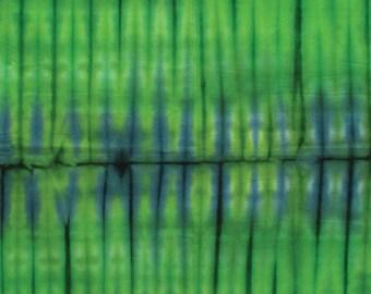 Bamboo Stripe Tie Dye Bali Green Benartex Fabric 1 yard