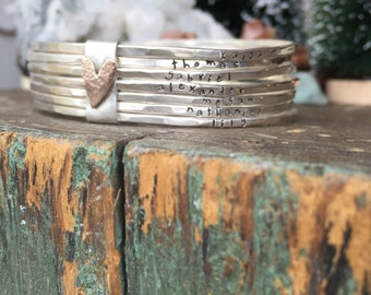 Bound By Love sterling silver and 14k gold filled bangle set...choose you number of bangles