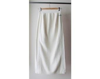 1990's Knit Cotton Pencil Skirt