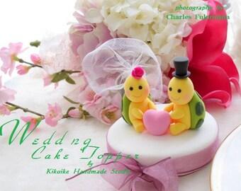 turtles Wedding Cake Topper-love turtles----k638