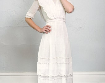 RESERVED - 1900s Antique Cotton Gown