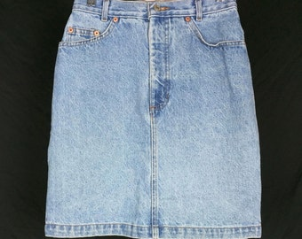 Gap High Waist Blue Denim Jean Skirt 7/8 S