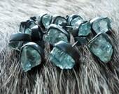 Aquamarine stud earrings | Raw aquamarine studs | Aquamarine crystal earrings | Aquamarine in silver earrings | Aquamarine post earrings