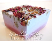 SOAP- Christmas Gift - Lilac Rose Soap - Soap Gift - Stocking Stuffer - Hostess Gift- Vegan Soap - Pink Soap