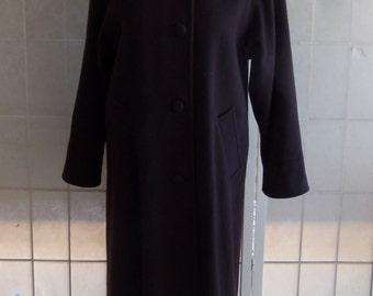 Vintage Forecaster of Boston Wool Brown Hooded Coat trimmed in Fox Fur