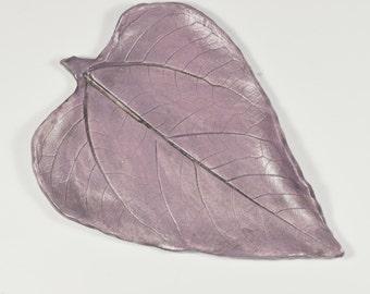 Lavender Ceramic Leaf Tray, Spoon Rest