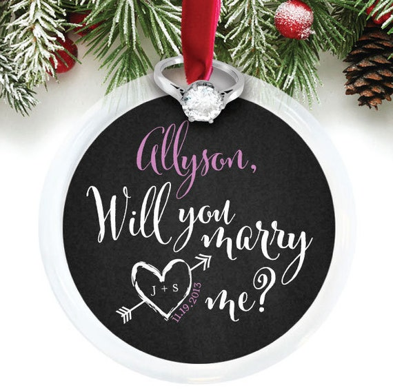 Marry Me Ornament Holiday Proposal Idea Christmas