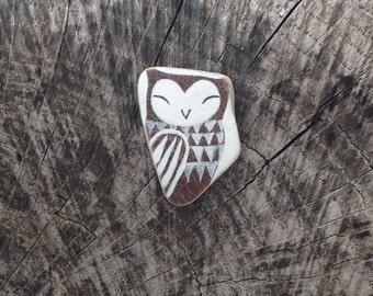 Brown Beach Pottery Owl