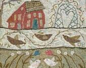 Sweet Bower rug hooking pattern