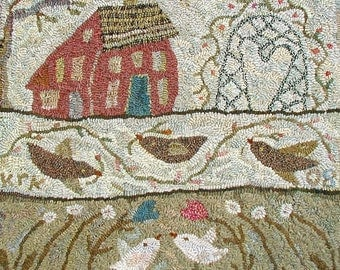 Sweet Bower rug hooking pattern
