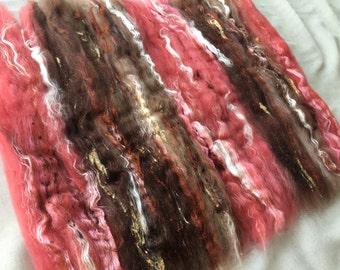 4.6 oz Mega Art Batt - Hand dyed fiber for spinning