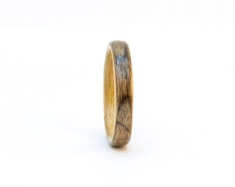 Size 10, Bentwood Ring, Liner Ring, Walnut Burl Wood Ring with Anigre Lining, Wooden Ring, Wood Wedding Band, Wedding Ring, Bentwood Band