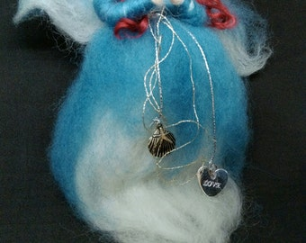 Felted wool fairy