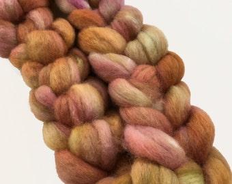 BFL wool top, dyed, 'A Field Afar', 4.0 oz.